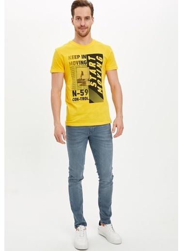 Defacto –Fit Tişört Sarı